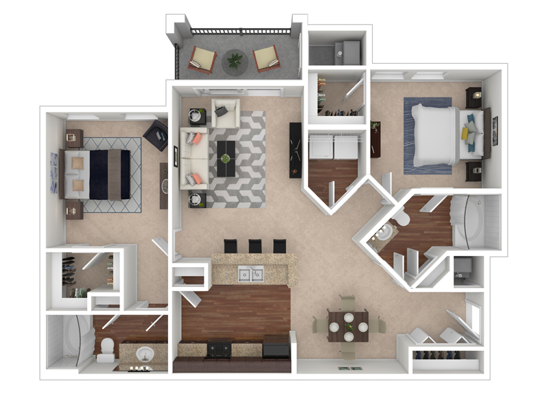 The Park at Southwood Apartments Floor Plan The Hawthorne