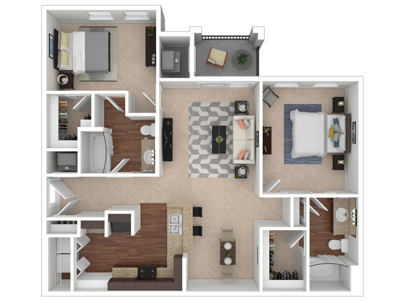 The Park at Southwood Apartments Floor Plan The Magnolia