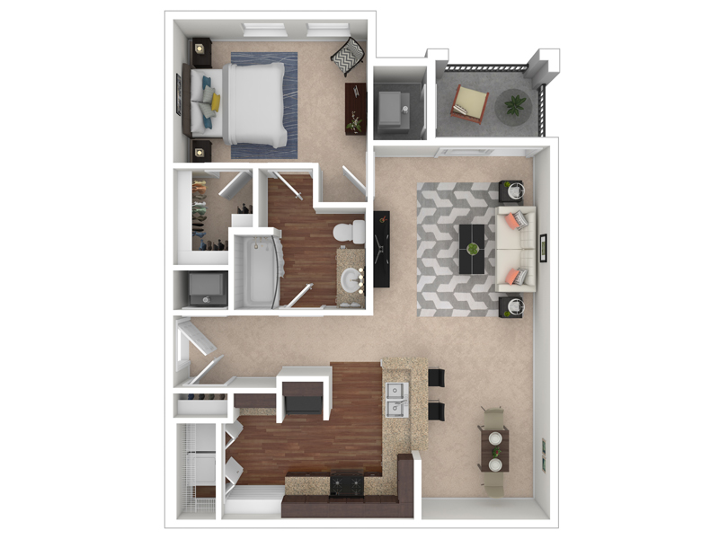 The Park at Southwood Apartments Floor Plan The Redbud
