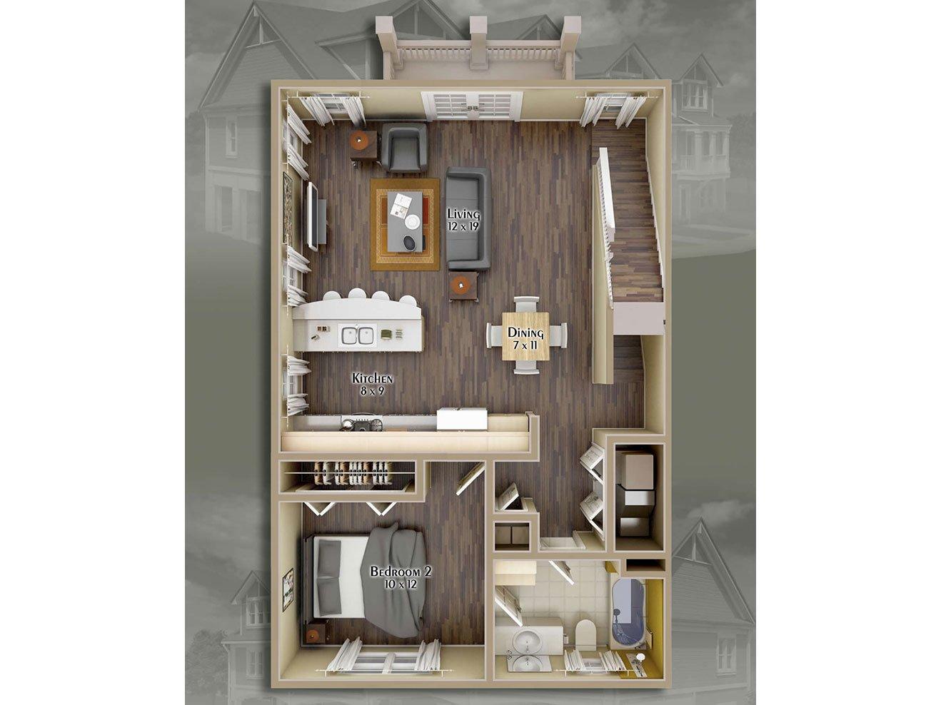 Hayden Commons Apartments Floor Plan 4 Bedroom 4 Bath