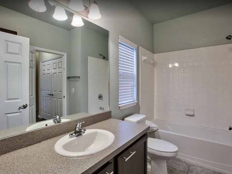 Apartment Bathroom: Hayden Commons in Tallahassee, FL
