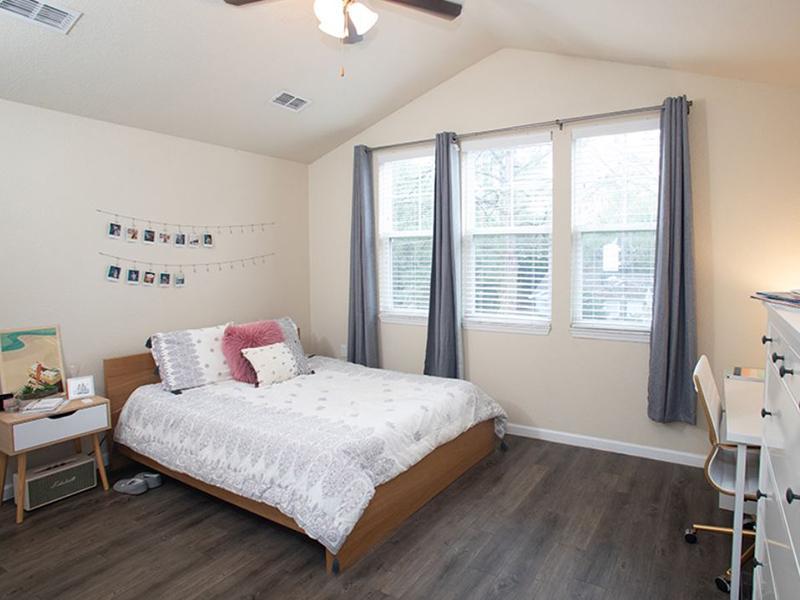 Bedroom With Hardwood Floors | Hayden Commons