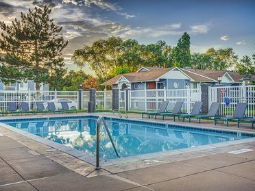 Sparkling Pool   Creekview Apartments in Midvale, UT