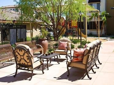 Outdoor Seating area | Serafina Apartment Homes