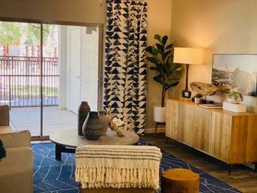 Living Room Overview | Serafina Apartment Homes