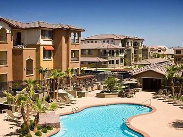Overview Of Resort-Style Swimming Pool | Serafina Apartments in Goodyear AZ