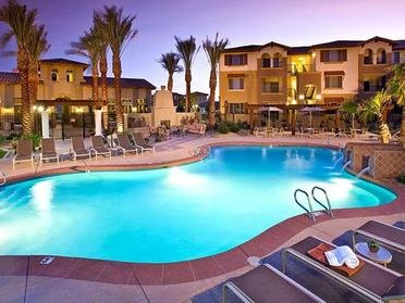 Resort-Style Pool At Night  | Serafina Apartments in Goodyear AZ