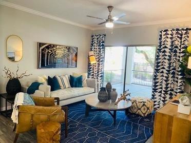 Apartment Living Room | Serafina Apartments in Goodyear AZ