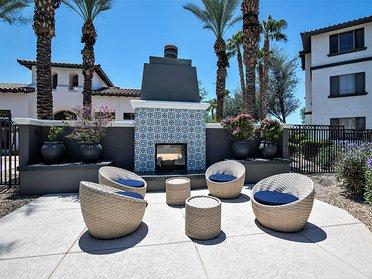 Fireplace Lounge | Serafina Apartments