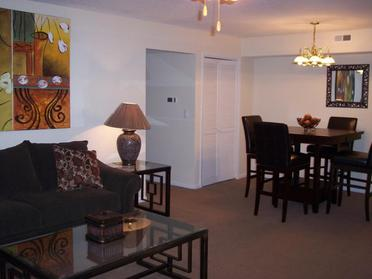 Living Space and Dining Area | The Mark Apartments