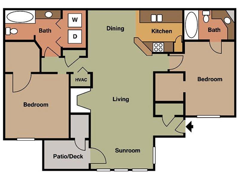 2 Bedroom - 2 Bath: Colony Woods Apartments - Birmingham, AL