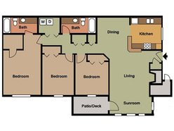 3 Bedroom - 2 Bath