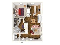 1 Bedroom / 1 Bath - A1