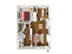 1 Bedroom / 1 Bath - A2