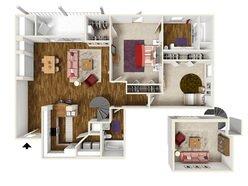 2 Bedroom / 2 Bath - B2