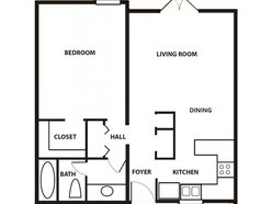 1 Bedroom / 1 Bath - Garden