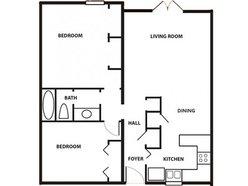 2 Bedroom / 1 Bath - Garden