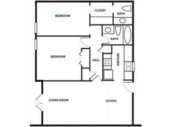 2 Bedroom / 2 Bath - Garden
