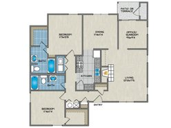2 Bedroom / 2 Bath - A