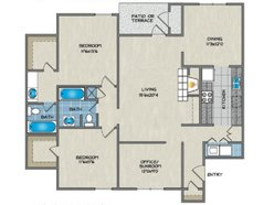 2 Bedroom / 2 Bath - B