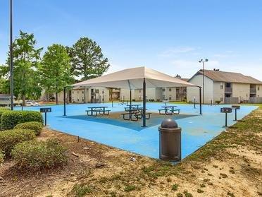 Outdoor Lounge | Van Mark Apartments