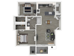 2 Bedroom 1 Bathroom - 916