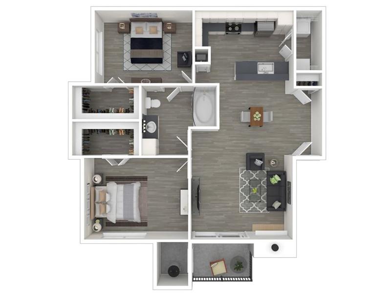 2 Bedroom 1 Bathroom - 916