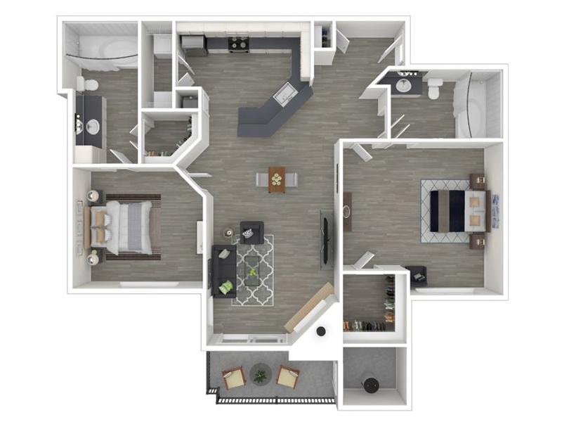 2 Bedroom 2 Bathroom - 1187
