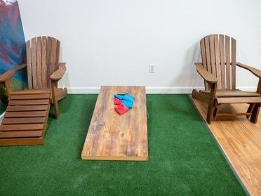 Cornhole Area | The Bigelow Apartments