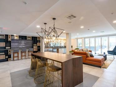 Clubhouse Lobby | The Link Apartments in Glendale, CA
