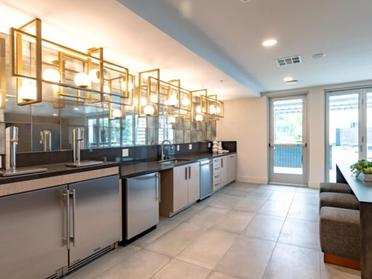 Clubhouse Kitchen | The Link Apartments in Glendale, CA
