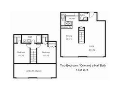 Two Bedroom One and Half Bathroom A3