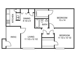 Magnolia - 2 Bedroom / 1 Bath