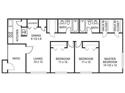 Sycamore - 3 Bedroom / 2 Bath