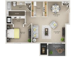 One Bedroom One Bath (A)
