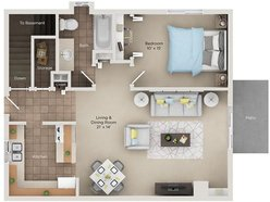 One Bedroom One Bath Townhome (ATH)