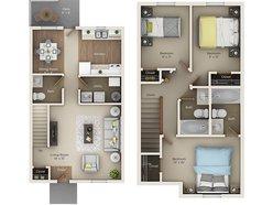 Three Bedroom One and Half Bath (DTH)