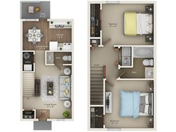 Two Bedroom One and Half Bath (BTH)