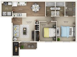 Two Bedroom Two Bath (C)