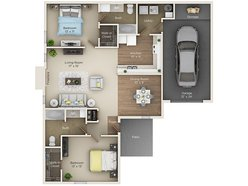 Two Bedroom Two Bath (C2)