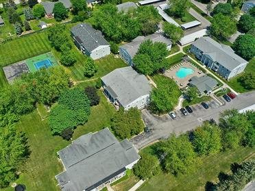 Aerial View   Township Court Apartments in Saginaw, MI