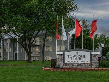 Welcome Sign   Township Court Apartments in Saginaw, MI