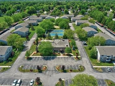 Aerial View   Township Square Apartments in Saginaw, MI