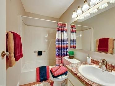 Bathroom Shower   Township Square Apartments in Saginaw, MI