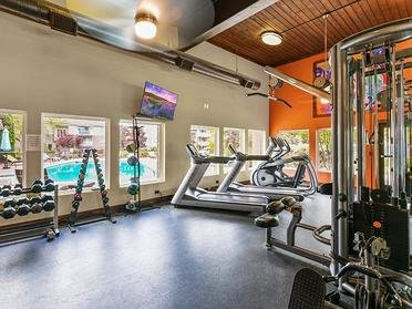 Gym   Township Square Apartments in Saginaw, MI