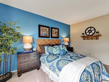 Furnished Bedroom   Township Square Apartments in Saginaw, MI