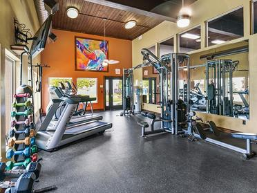 Fitness Center   Township Square Apartments in Saginaw, MI