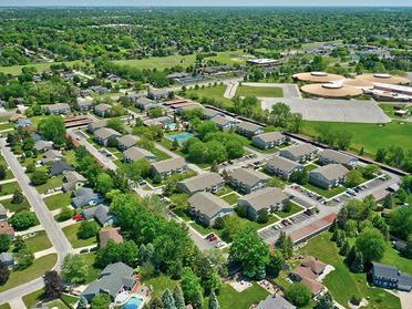 Aerial   Township Square Apartments in Saginaw, MI