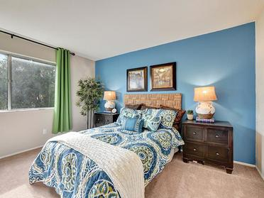 Bedroom   Township Square Apartments in Saginaw, MI