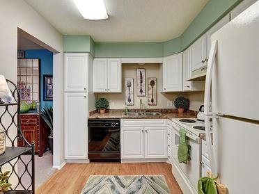Fully Equipped Kitchen   Township Square Apartments in Saginaw, MI